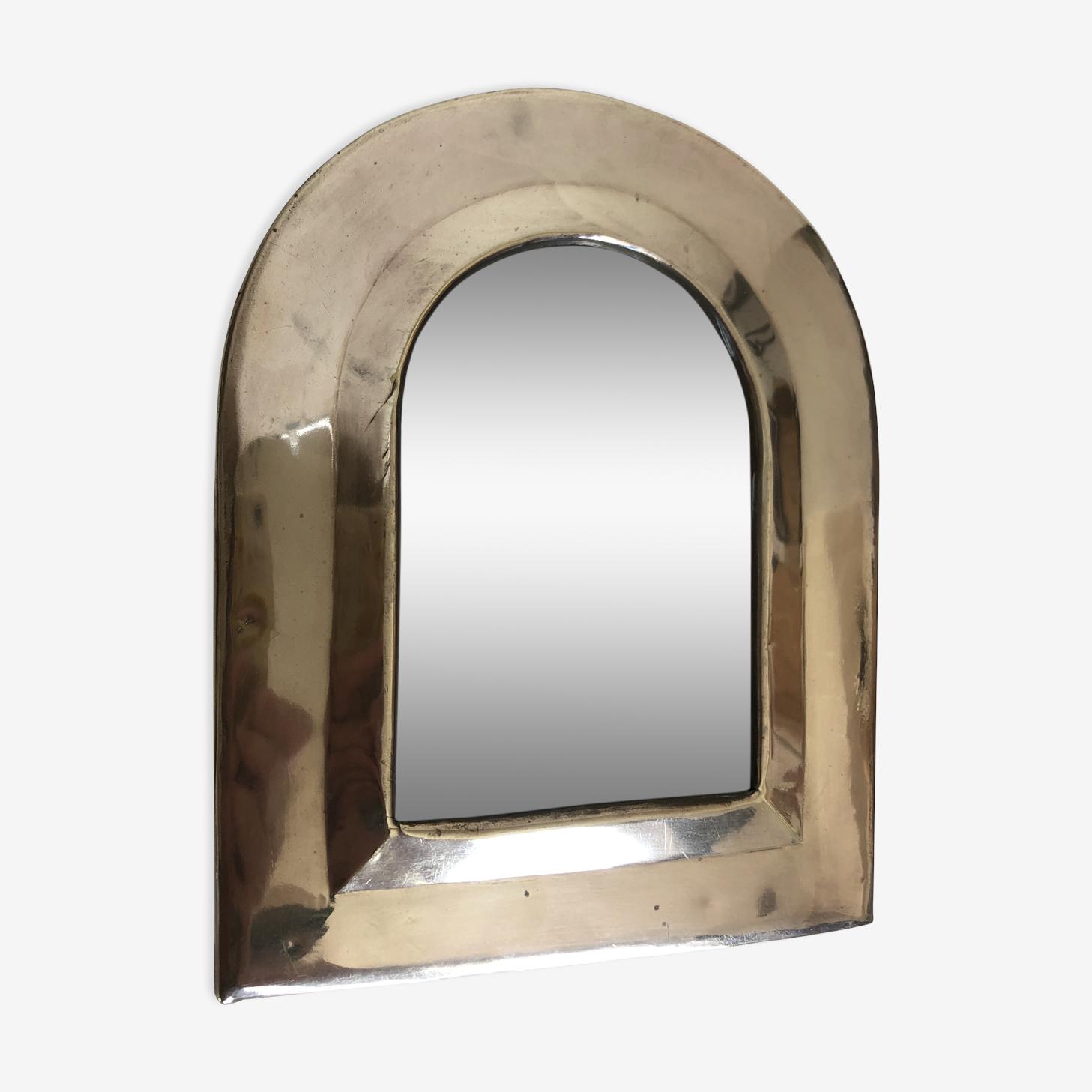 Miroir en laiton 21,5 x 17,5 cm
