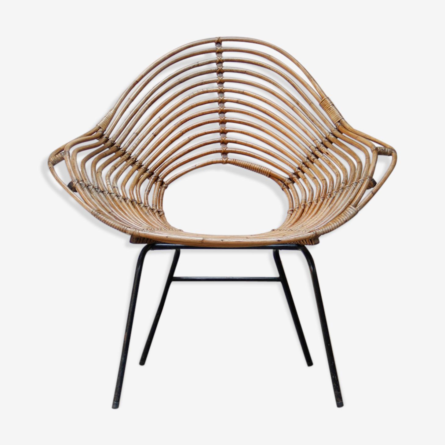 Rohé Noordwolde, Rotan lounge chair by Dirk van Sliedregt
