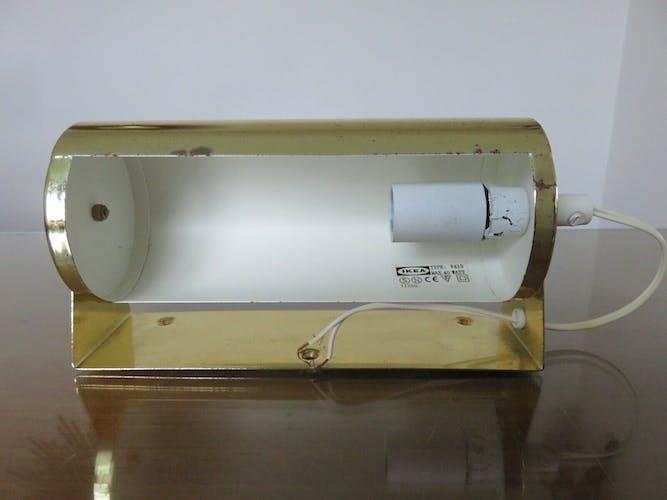 """Applique """" rouleau """" en métal doré Ikea années 80"""