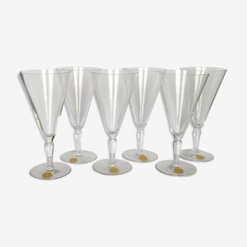 6 verres en cristal