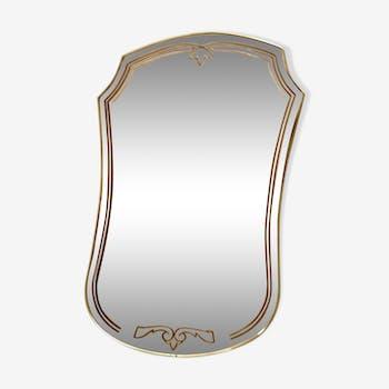 Miroir contour laiton 44x66cm