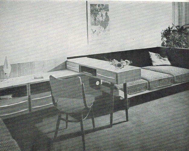 Bureau du milieu du siècle par Mojmír Požár pour UP Bučovice, années 1960