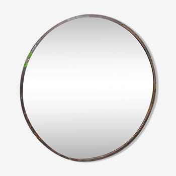 Miroirs scandinaves vintage d 39 occasion for Miroir rond grand