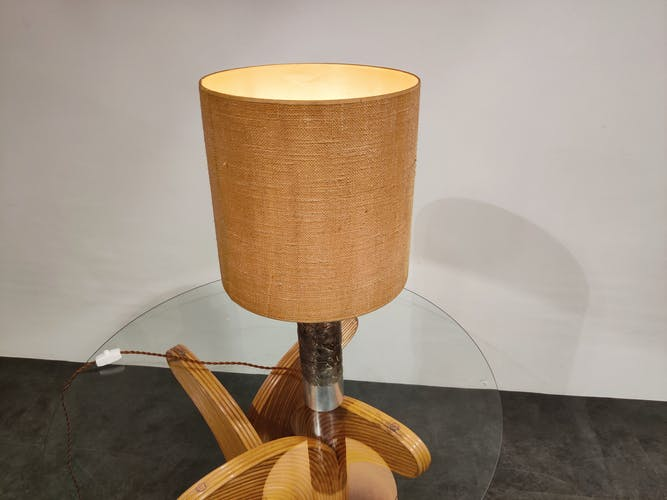 Lampe de table brutaliste Willy Luyckx années 1970