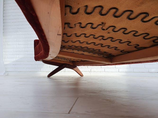 4 seats Danish sofa by Leif Hansen, 100% original very good condition, 60s