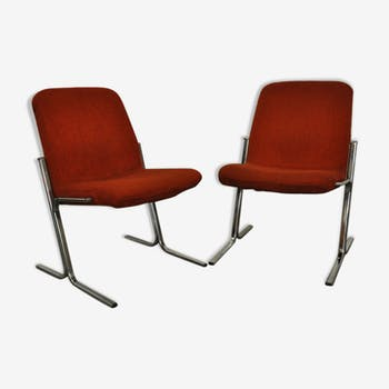 "Pair of drivers of the 60 / 70 ""Rusty"" red seat"