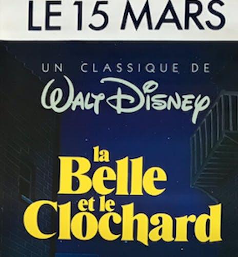 """Affiche de cinéma """"La Belle et le Clochard"""""""
