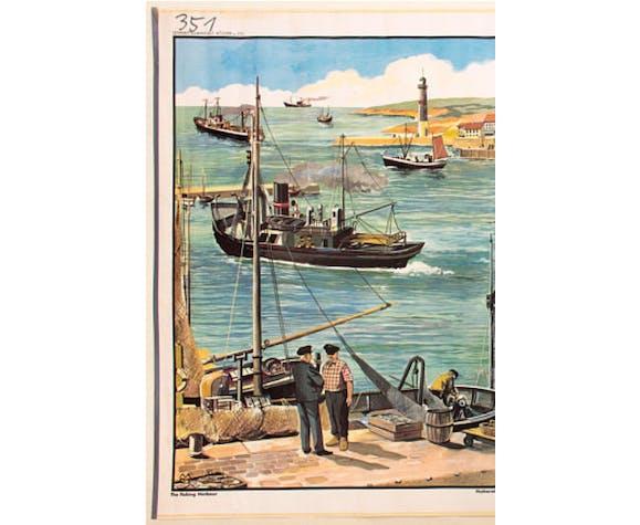 Fishing, educational grid, 1965