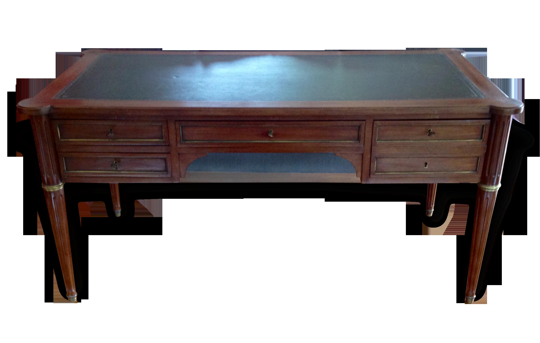 Bureau style louis xvi wood brown classic