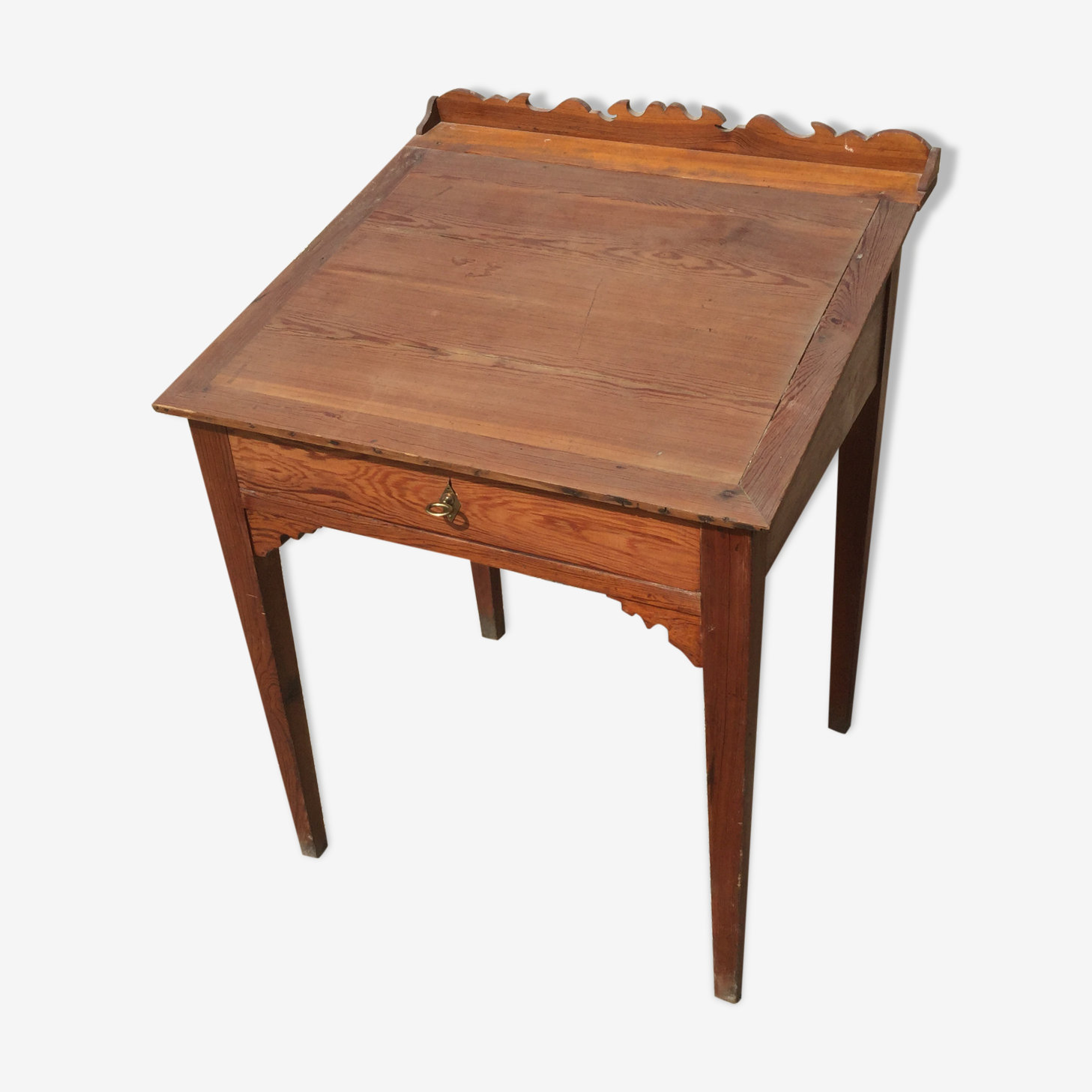 Writing desk in pitch pine
