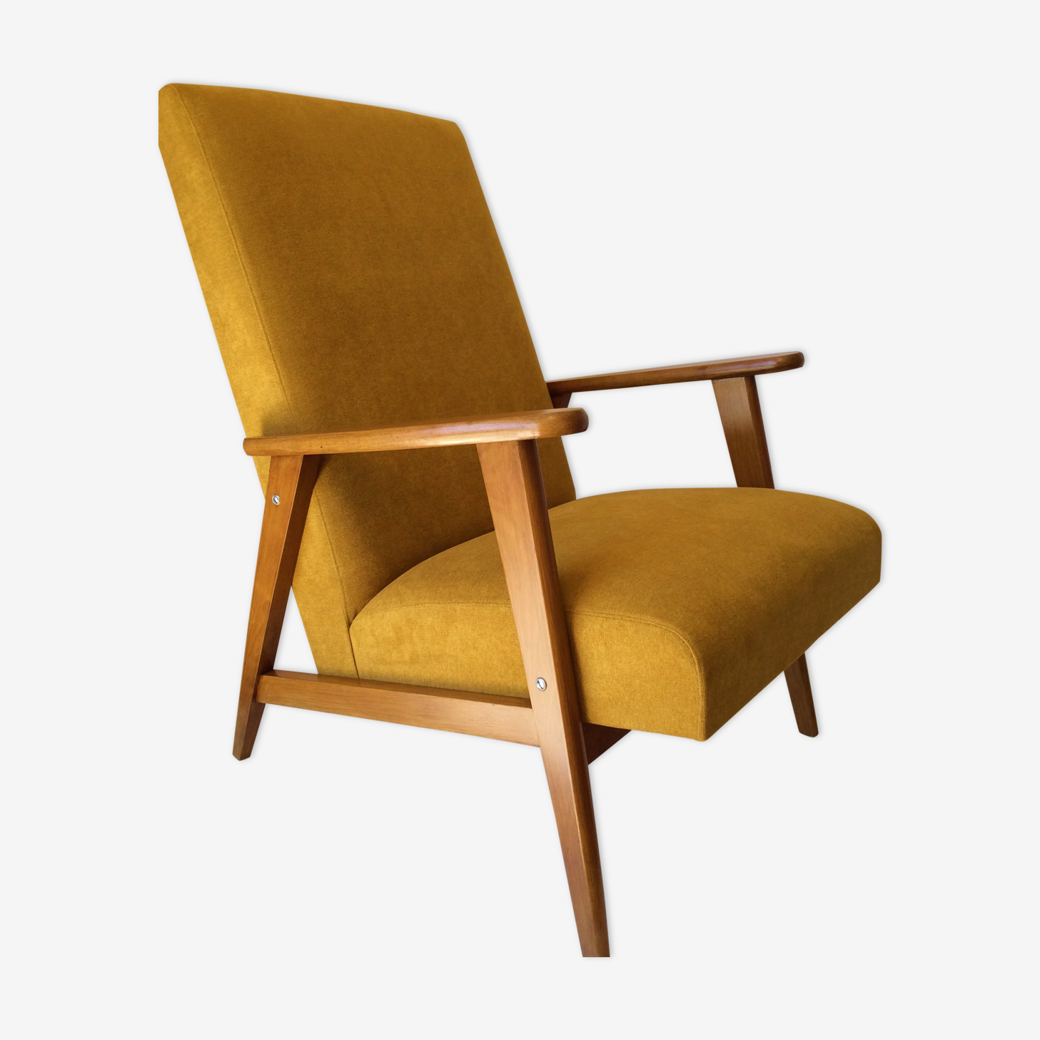 Fauteuil Jaune Vintage fauteuil vintage jaune moutarde - wood - yellow - vintage - syhocvq