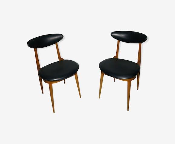 "Pair of vintage Baumann chairs model ""Unicorn"" 1960"
