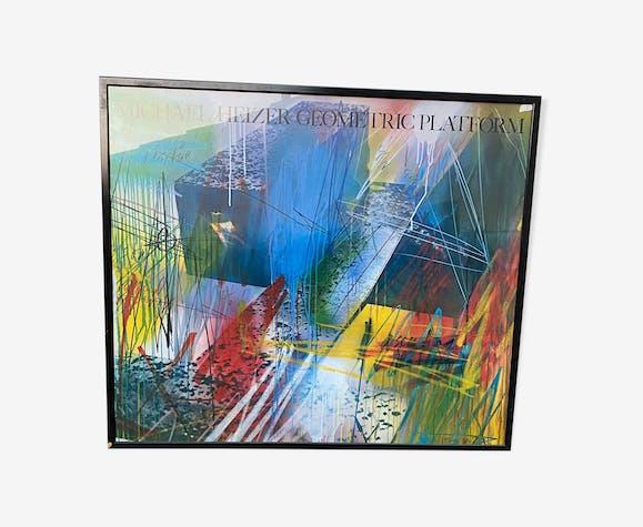 Affiche 120x120 Michael heizer