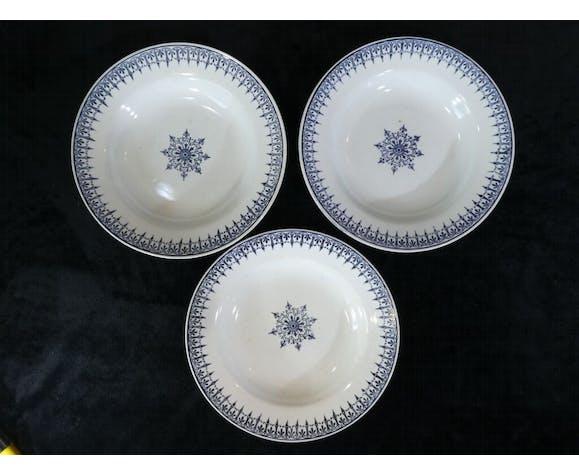 Set de 3 assiettes creuses St-amand
