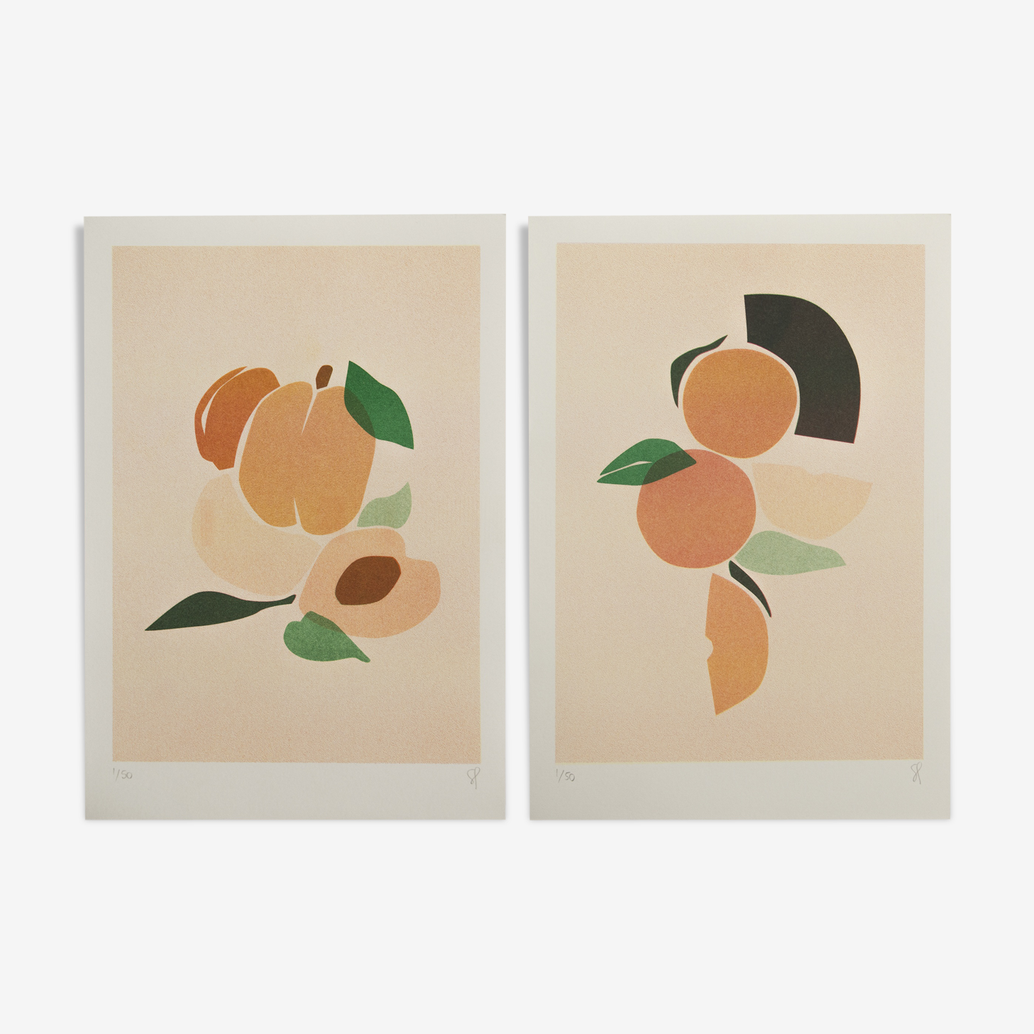 Duo abricots, oranges A4
