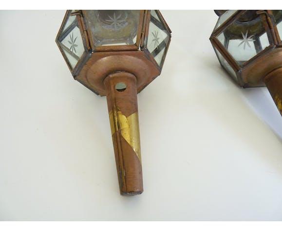 Paire de lanternes de calèche