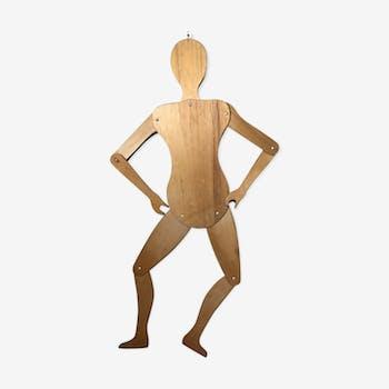 Mannequin en bois articulé