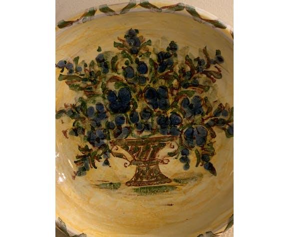 Bol jaune et bleu céramique Cazaux Biarritz