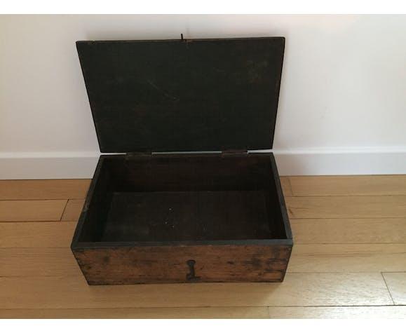 Boite caisse en bois vintage multi fonctions avec poignée
