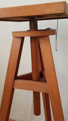 Sellette de sculpteur ancienne en chêne