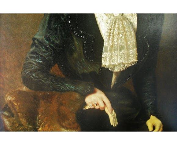 Portrait Adolphe Demange élègante aux gants 1899