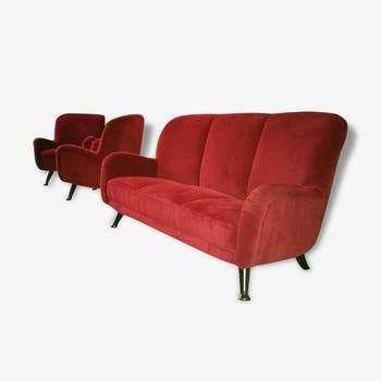 Set couch and chairs 50s 60s