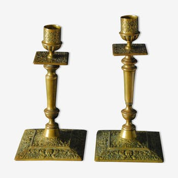 Pair of old candlesticks