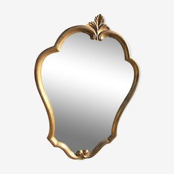 Miroir doré style louis XV 56x80cm