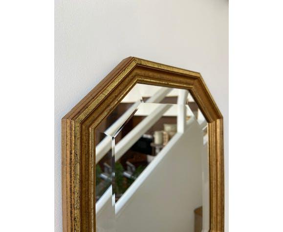 Miroir biseauté doré 35 x 27 cm