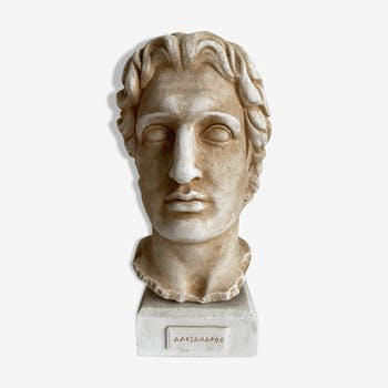 Plaster bust Alexander the Great