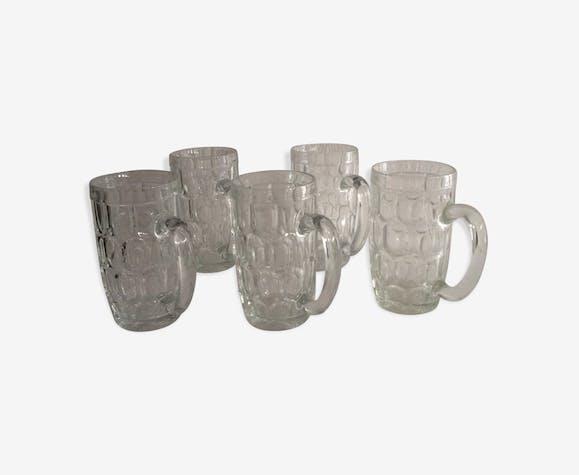 Set de chopes à bière en verre épais vintage - verre et cristal ... 40d47f913e60