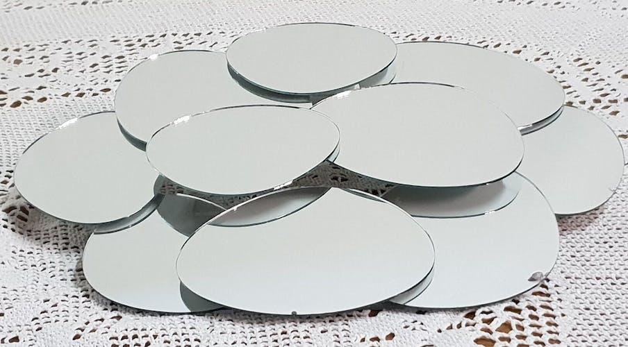 Mirror flowers seventies - 40x34cm