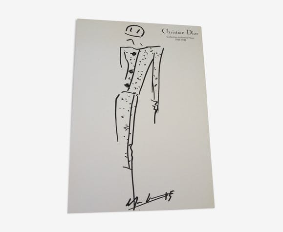 Illustration de mode Christian Dior et photographie de presse des années 80