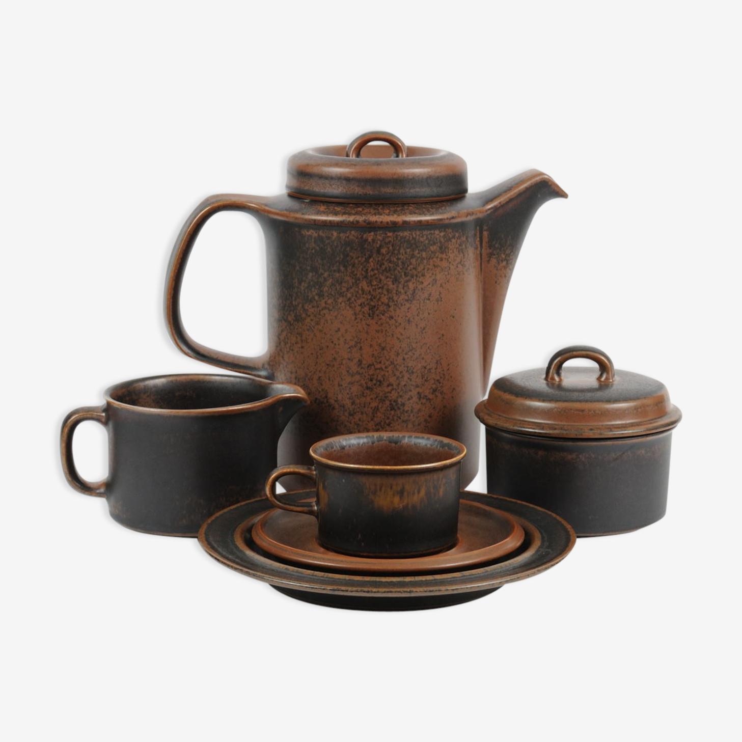Ruska Coffee Set by Ulla Procope for Arabia, 1970s