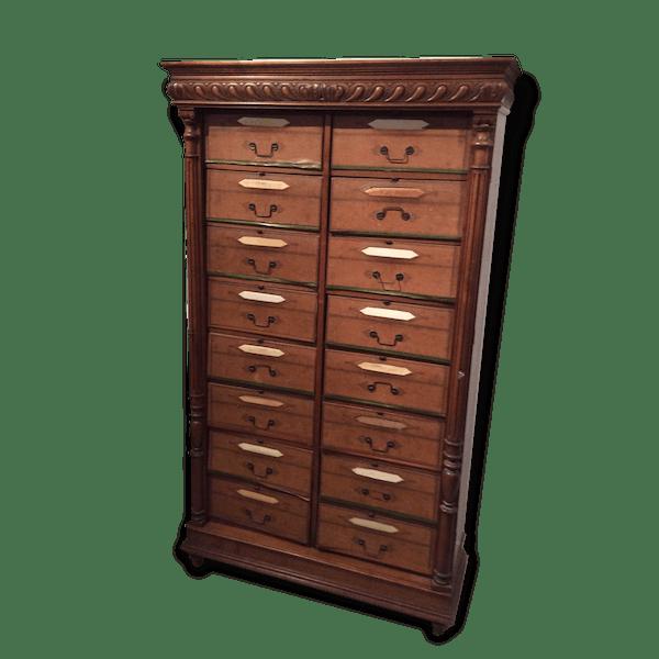 Cartonnier ou meuble de notaire bois mat riau for Frais de notaire meuble