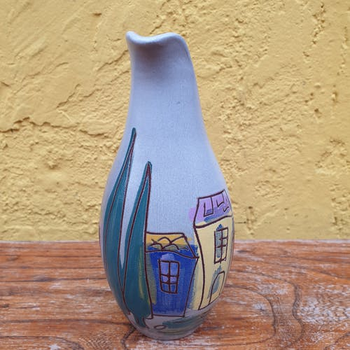 Ceramic pitcher signed Giraud Vallauris, France
