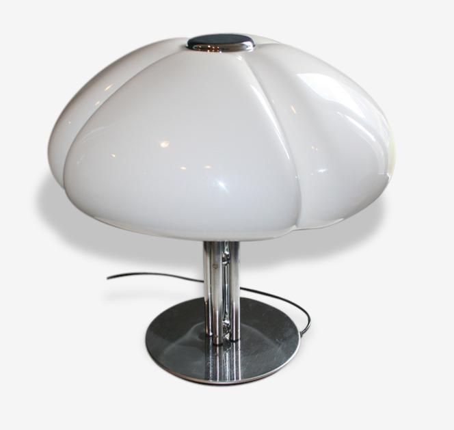 Lampe A Poser Quadrifoglio Guzzini Gae Aulenti Metal White