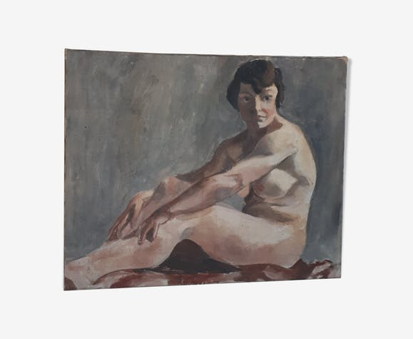 Tableau ancien femme nue