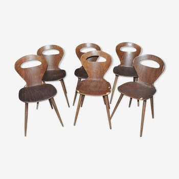 """Set of 6 """"Ant"""" chairs 60's"""