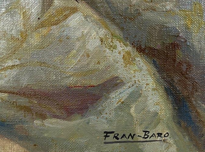 Huile sur toile signée en bas a droite Fran Baro