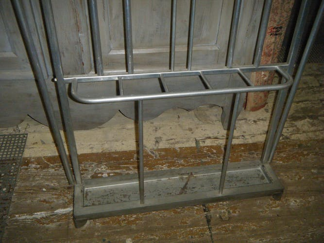 50's old aluminium coat hanger