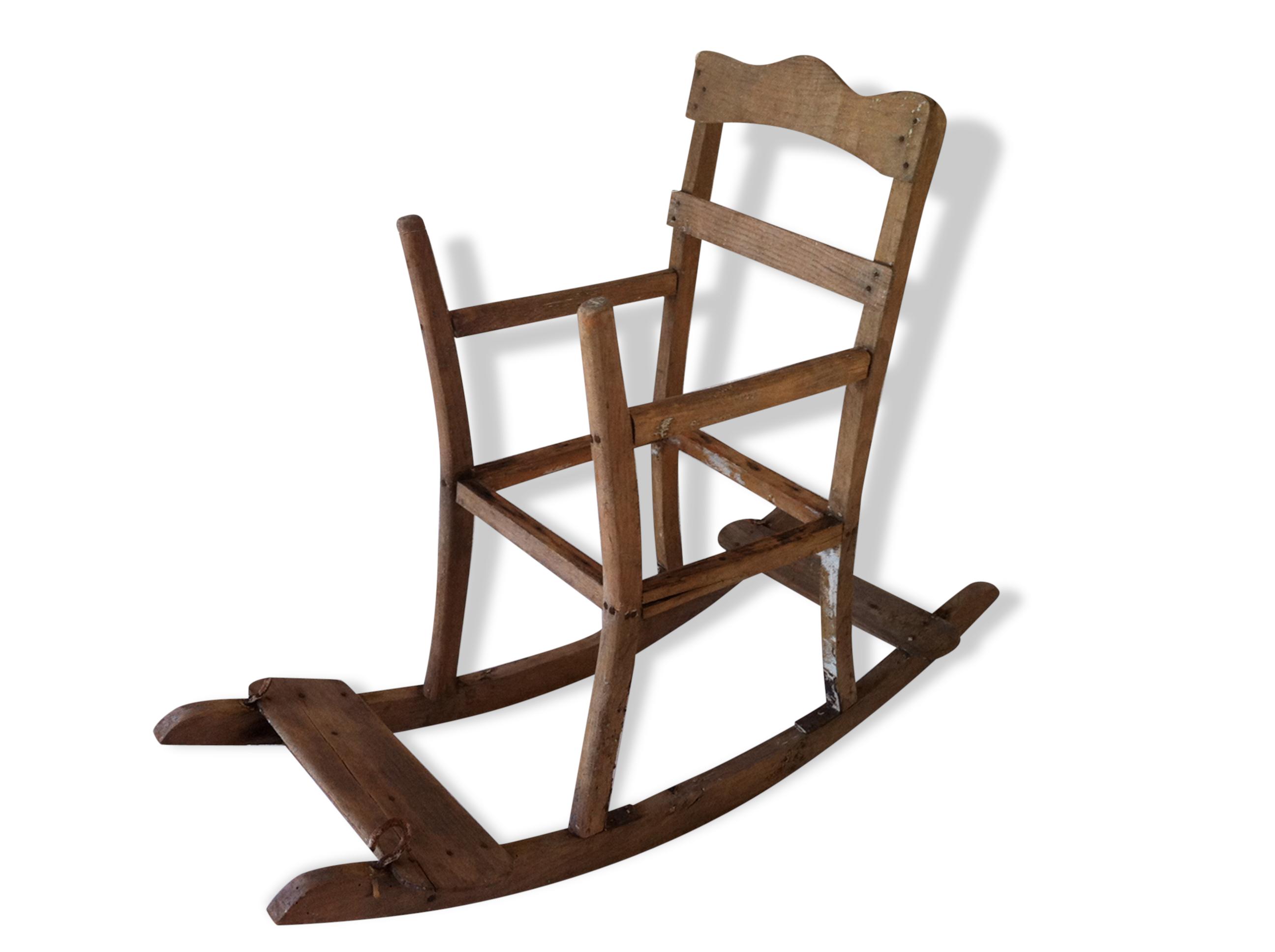 Rocking Chair Balancelle Ancienne Bois Mat Riau Bois