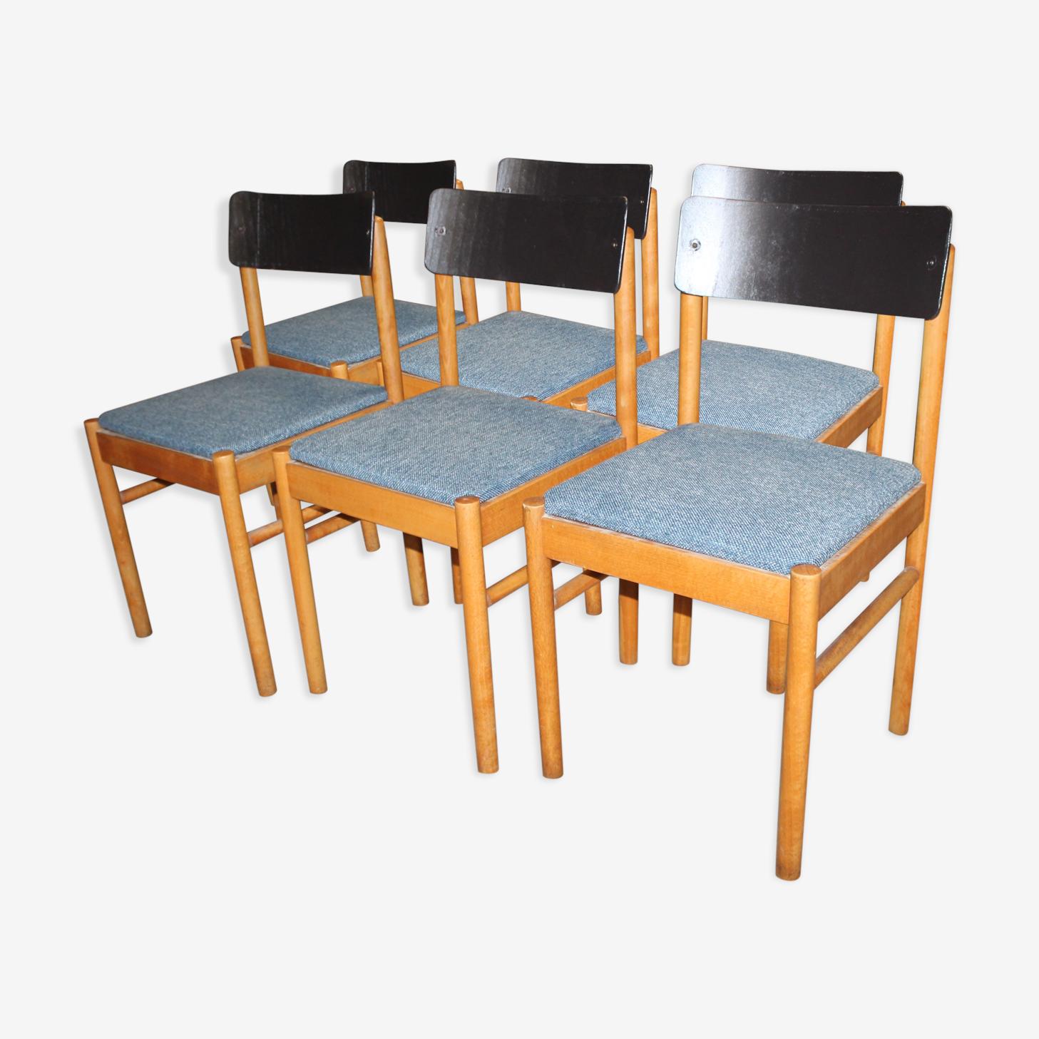 Set of six chairs Baumann model Nadia