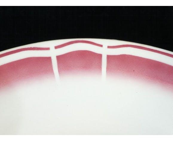 Plat rond creux badonviller rouge