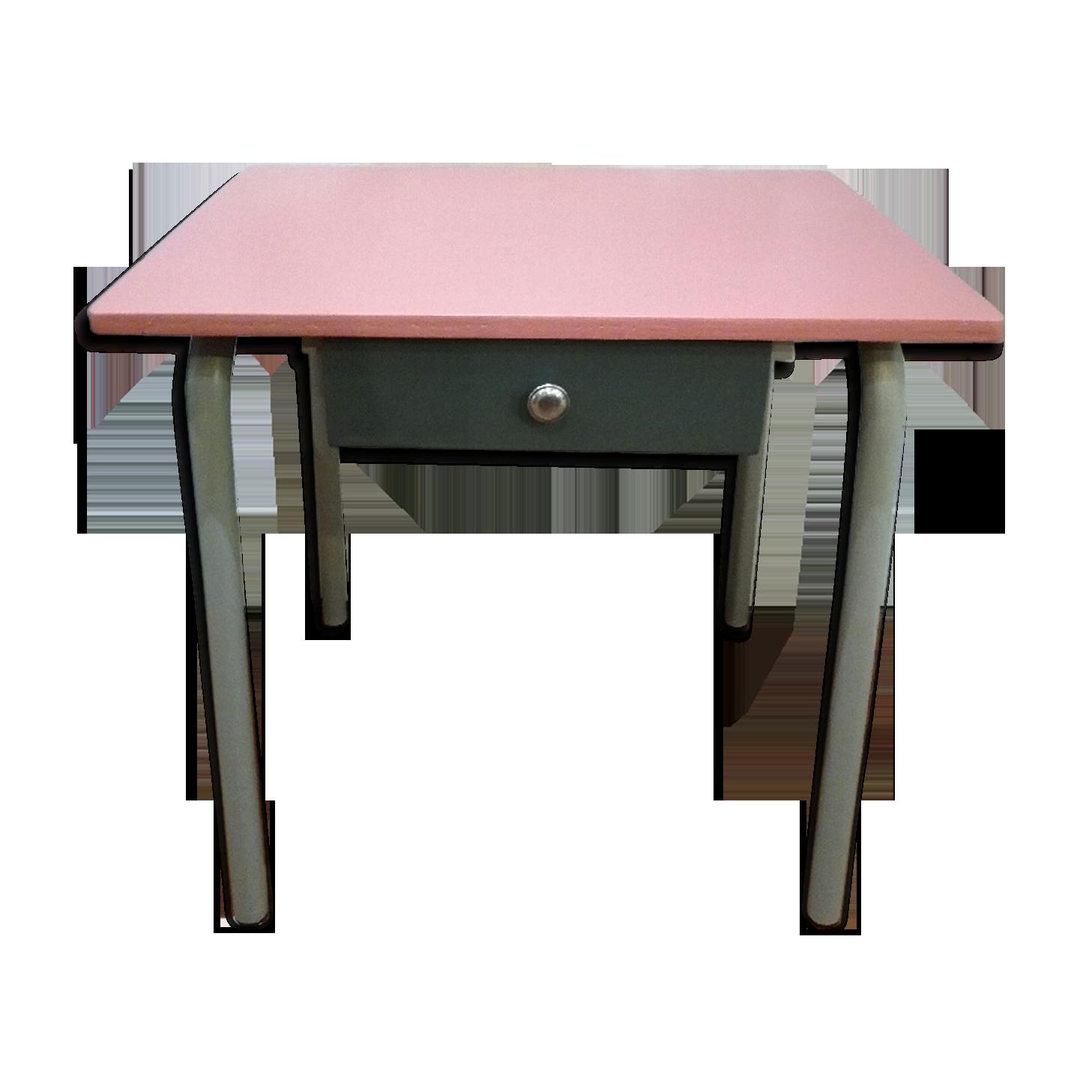 Bureau avec tiroir bois matériau rose vintage bcmzcue