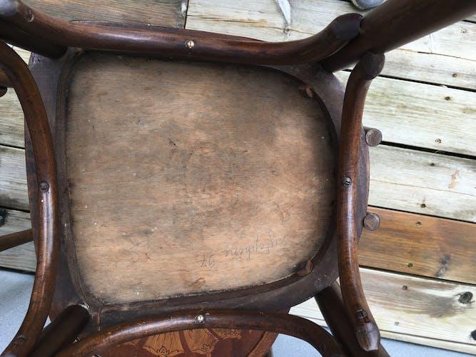 Set de 4 chaises Luterma assises gaufrées