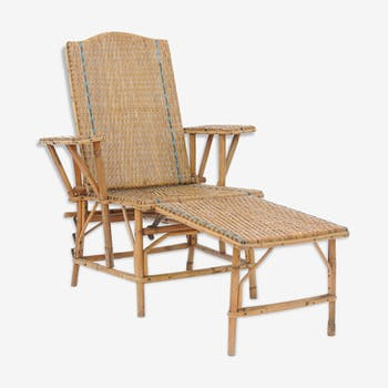 Rattan long chair