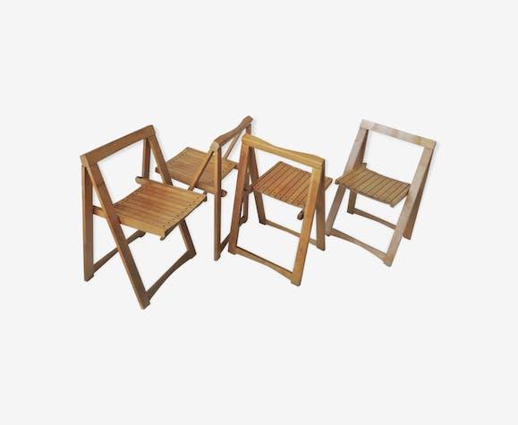 Quatre chaises pliante Aldo Jacober 1966