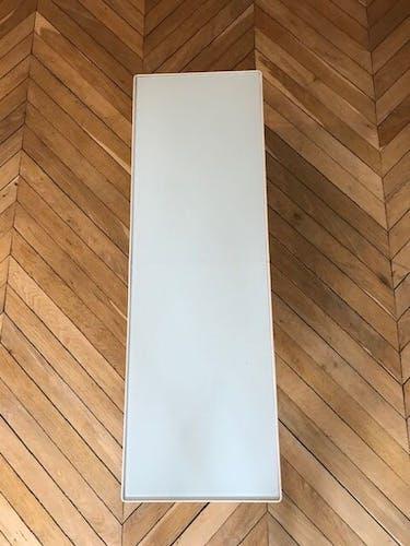 Table basse galerie sentou verre et métal