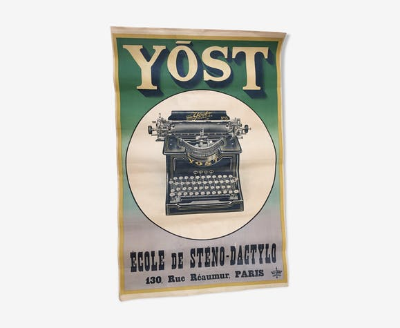 Old Yost advertising poster - paper - green - art deco